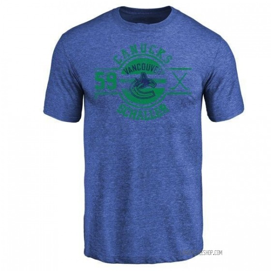 Men's Tim Schaller Vancouver Canucks Insignia Tri-Blend T-Shirt - Royal