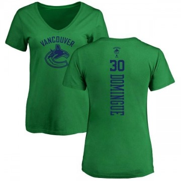 Women's Louis Domingue Vancouver Canucks One Color Backer T-Shirt - Kelly Green