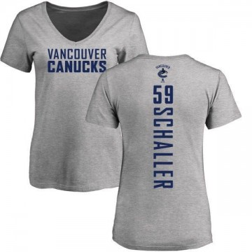 Women's Tim Schaller Vancouver Canucks Backer T-Shirt - Ash