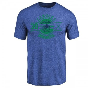 Youth Louis Domingue Vancouver Canucks Insignia Tri-Blend T-Shirt - Royal
