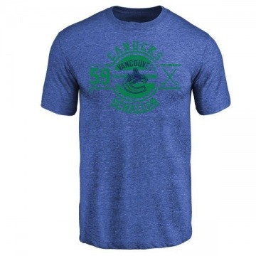 Youth Tim Schaller Vancouver Canucks Insignia Tri-Blend T-Shirt - Royal